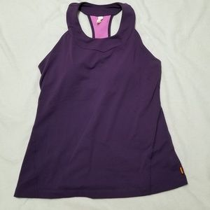 Lucy Brand Athletic Racer Back Tank Size Large